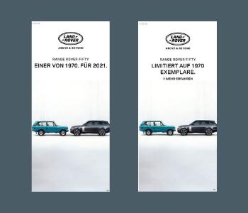 Land Rover Werbekampagne Banner Anzeigen